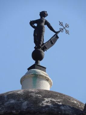 Rooftop Statue Havana