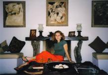 Rania posing